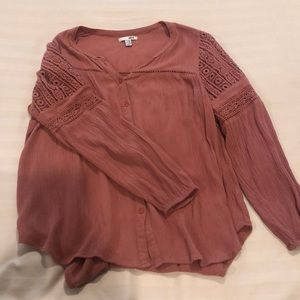 rust Amuse Society blouse